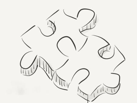 jeu de construction d'équipe de puzzle